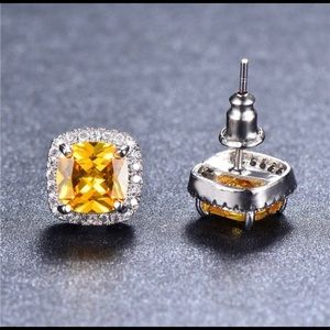 Canary Yellow Topaz Studs